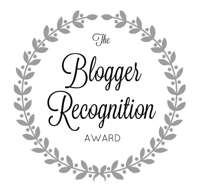 Blogger Recognition award!