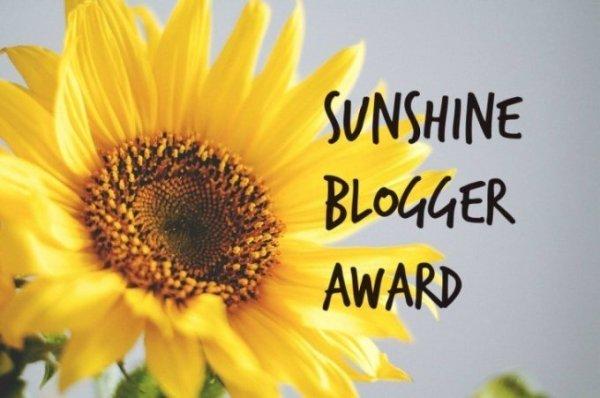 Sunshine Blogger Award#3