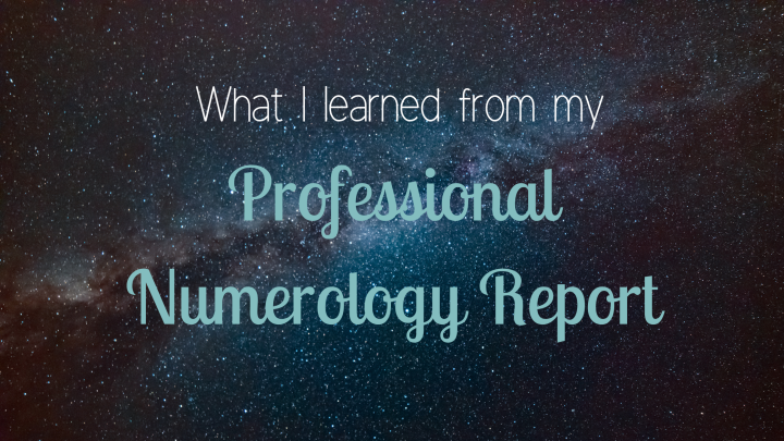 What I learned from my professional numerology report